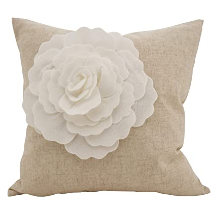 Amazon.com: Cojín para sofá de color marfil, tamaño mediano ...