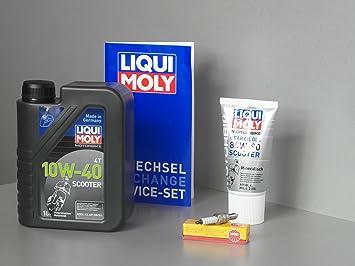 Kit de mantenimiento Vespa 50 LX, primavera, Sprint, S, aceite getriebeöl Bujía Service: Amazon.es: Coche y moto