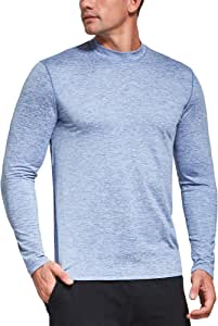 Ogeenier Fleece Camiseta Térmica de Manga Larga con Cuello Alto Hombre Sudadera Cálida