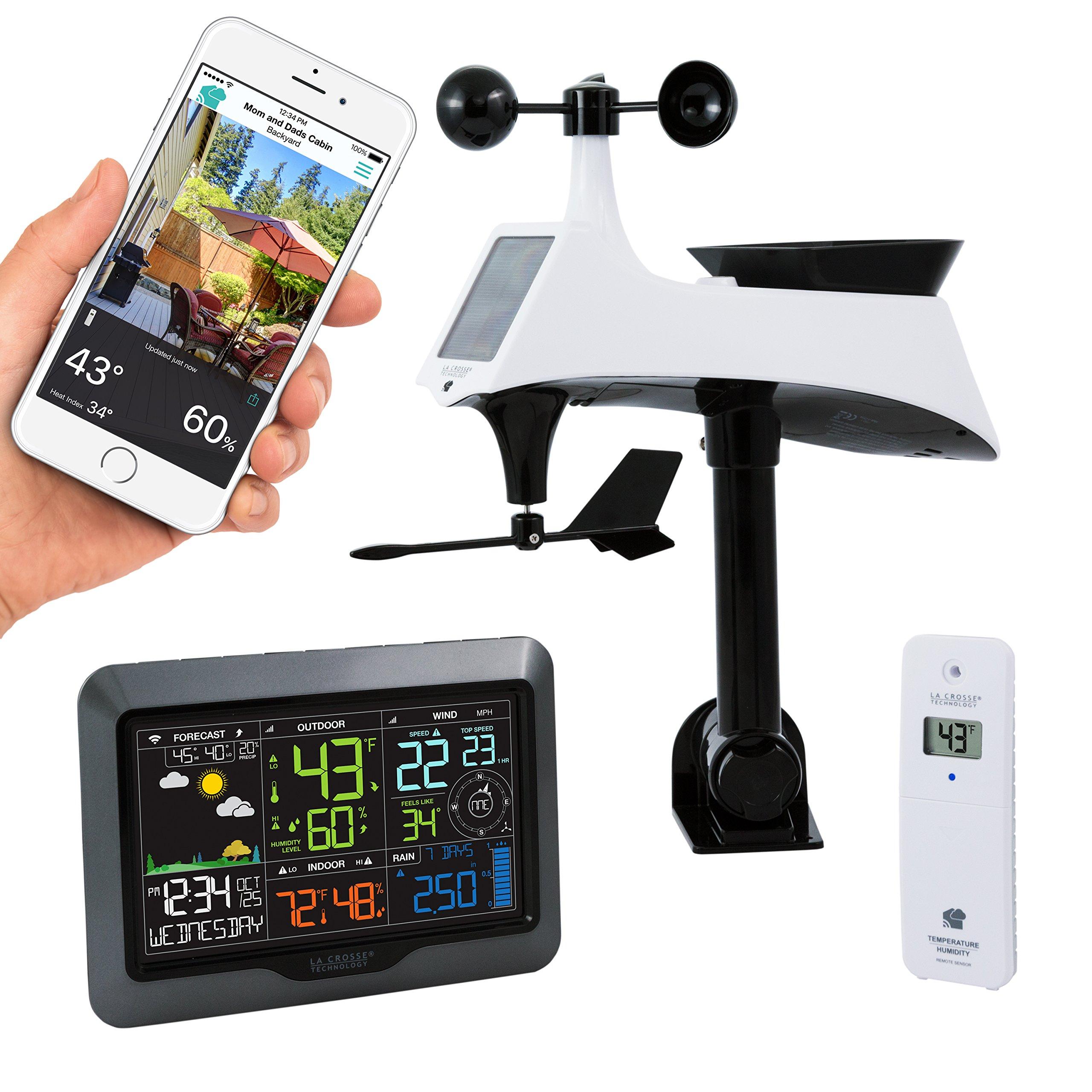 La Crosse Technology V40-PRO-INT Color Wireless Wi-Fi Professional Weather Station