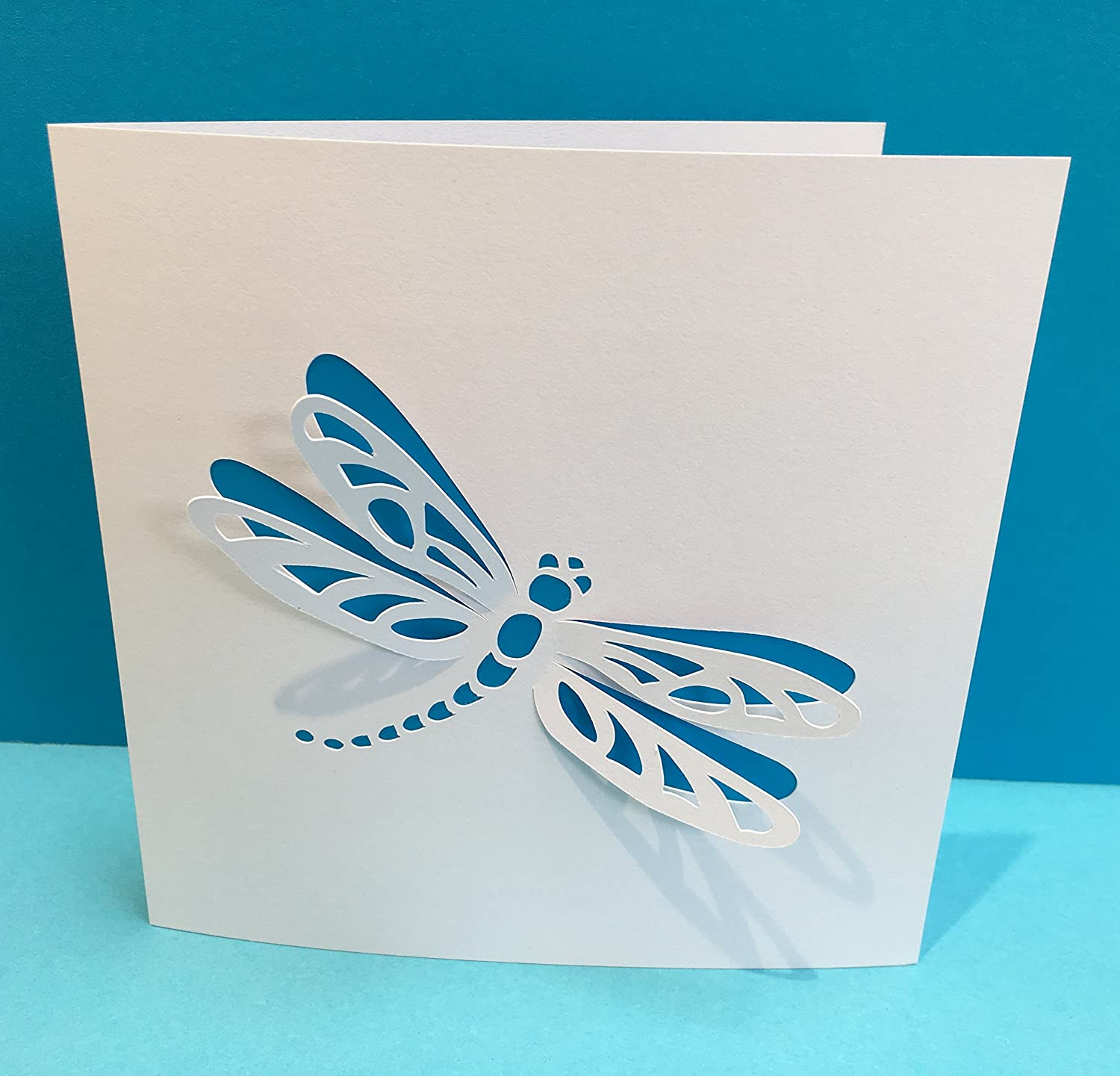 Strange Dragonfly Card Paper Cut Dragonfly Handmade Greeting Card Funny Birthday Cards Online Alyptdamsfinfo