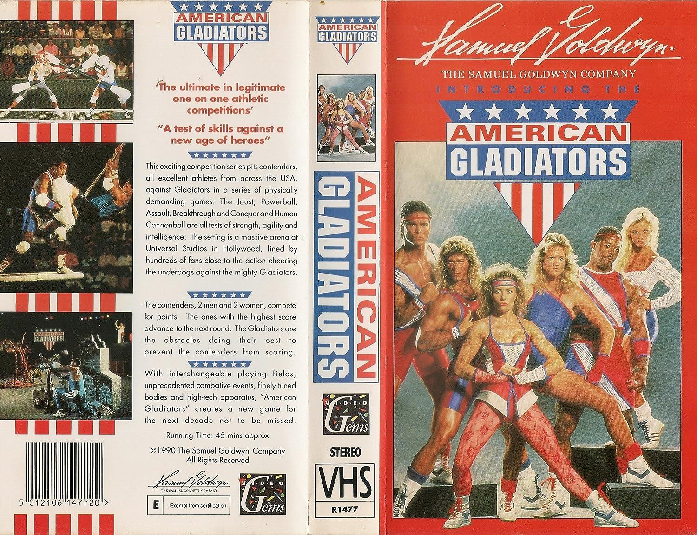 Amazon.com: American Gladiators [VHS]: Mike Adamle, Jim Starr, Raye  Hollitt, Larry Thompson, Lee Reherman, Galen Tomlinson, Lori Fetrick, Danny  Lee Clark, ...