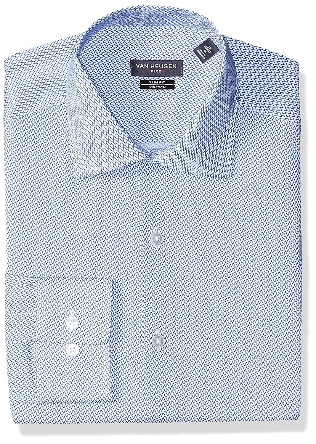 Van Heusen Mens Dress Shirt Flex Collar Slim Fit Print At Amazon