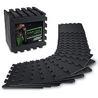 AthleticPro Vloerbeschermingsmat Fitness [31x31cm] - 18 extra dikke vloermatten [20% meer bescherming] - Antislip…