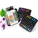 Crayola Sketch & Detail Dual-Tip Markers, Decorative Case, Hand Lettering Markers, 16 Count, Gift