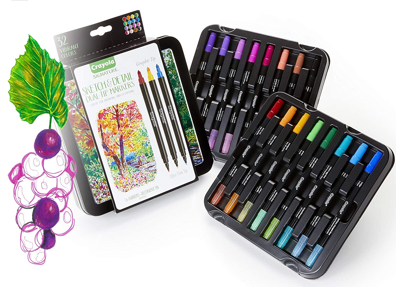 Amazon.com: Crayola - Rotuladores de doble punta, estuche ...