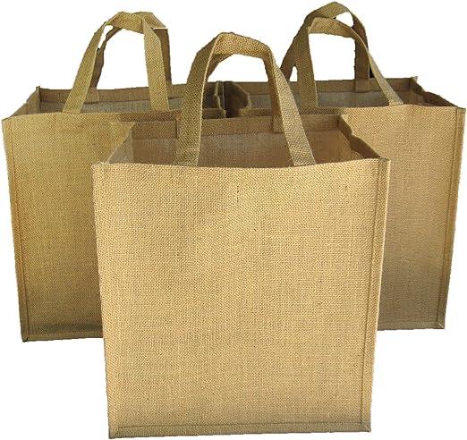 Whole Foods Jute Gift Bag Genuine Burlap Brown Reuse Sturdy New