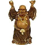 "Oriental Furniture 12"" Standing Prosperity Buddha Statue"