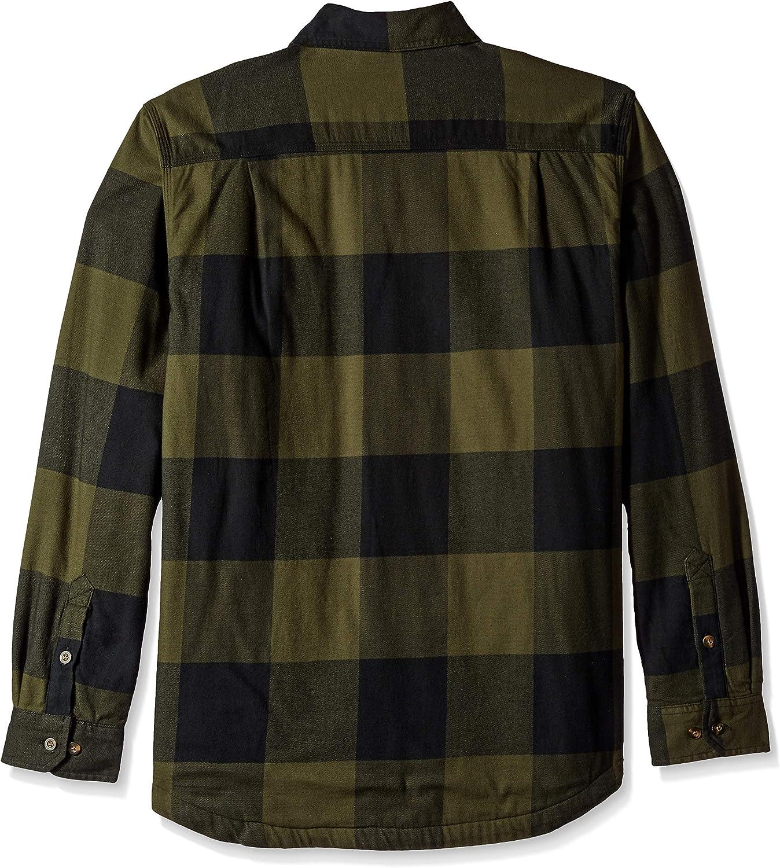 Carhartt Hamilton Fleece-Lined Shirt//Jacket Carhartt Brown Rugged Flex
