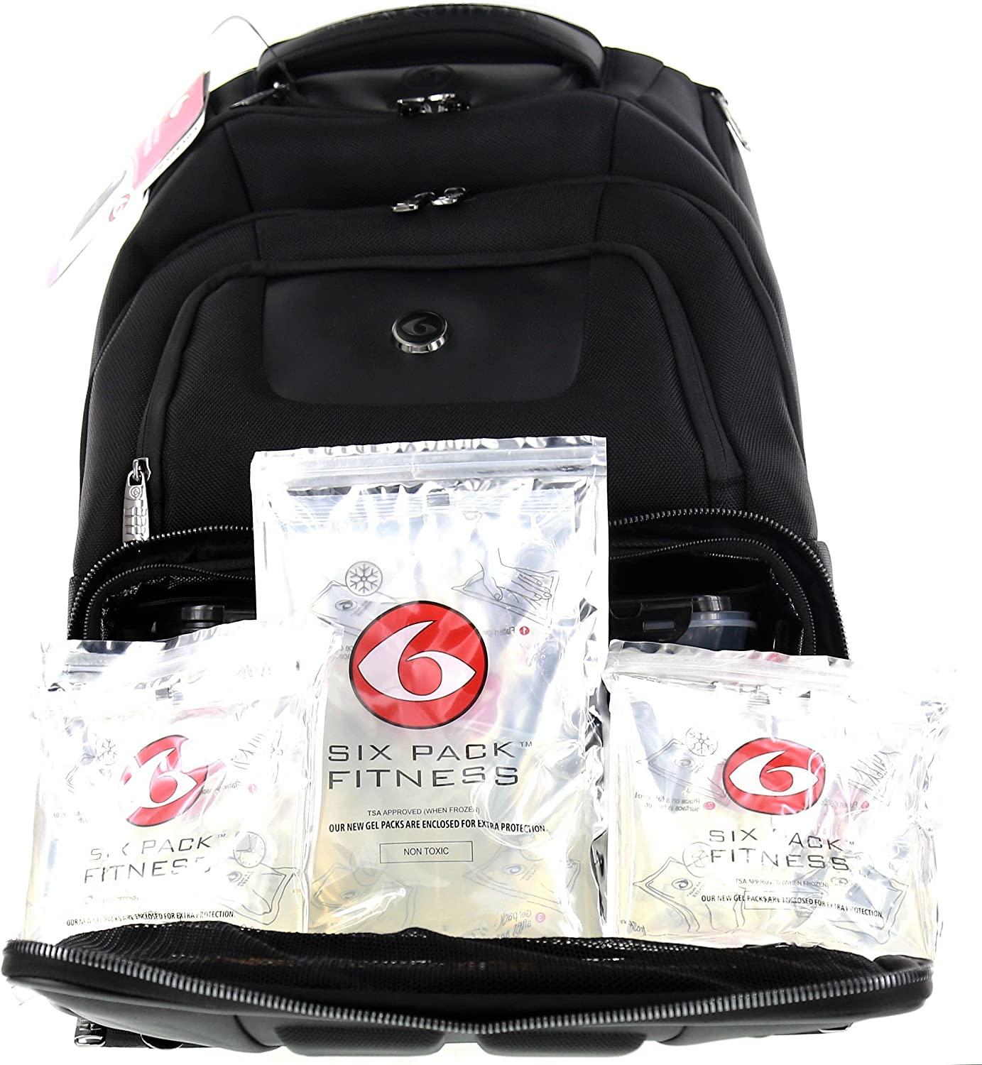 Fitness Elite Voyager 500 Backpack Stealth Black Removable Meal Core W/ZogoSportz Free Gift by 6 Pack Fitness: Amazon.es: Hogar