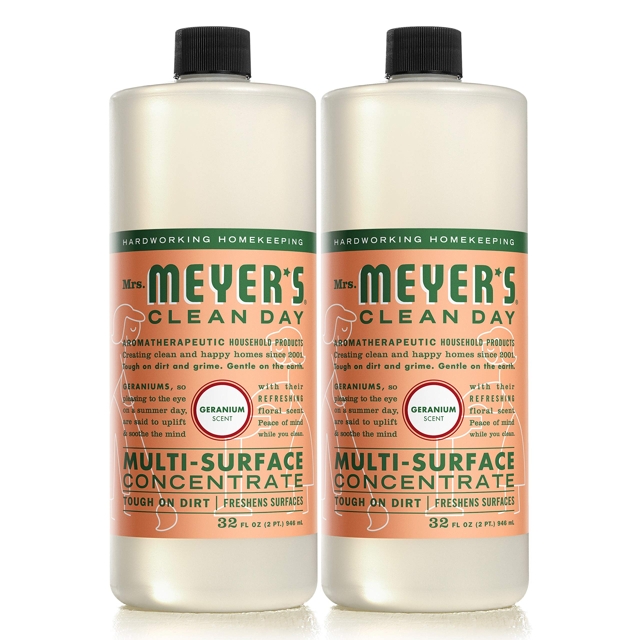 Mrs. Meyer's Clean Day Multi-Surface Concentrate, Geranium, 32 fl oz, 2 ct by Mrs. Meyer's Clean Day (Image #2)