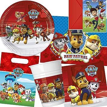 Paw Patrol Party Einladungskarten 6 Stück Kindergeburtstag Mottoparty
