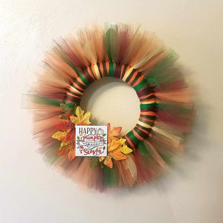 Amazon Com Tulle Fall Wreath Handmade