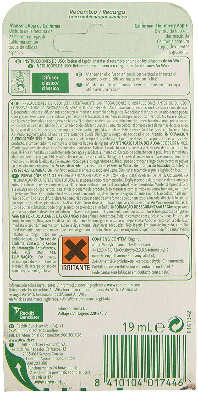 Air Wick - Exotic Scents - Recambio para ambientador eléctrico - 19 ml: Amazon.es: Alimentación y bebidas