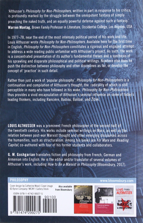 Philosophy for Non-philosophers: Louis Althusser, G  M  Goshgarian