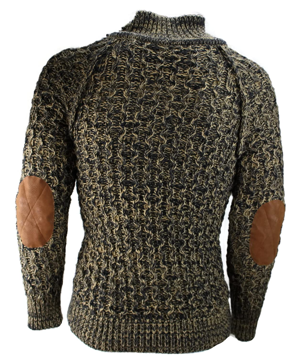 # 2010?Men's Brown Designer Jumper Knitted Sweater Chunky Knit S M L XL XXL