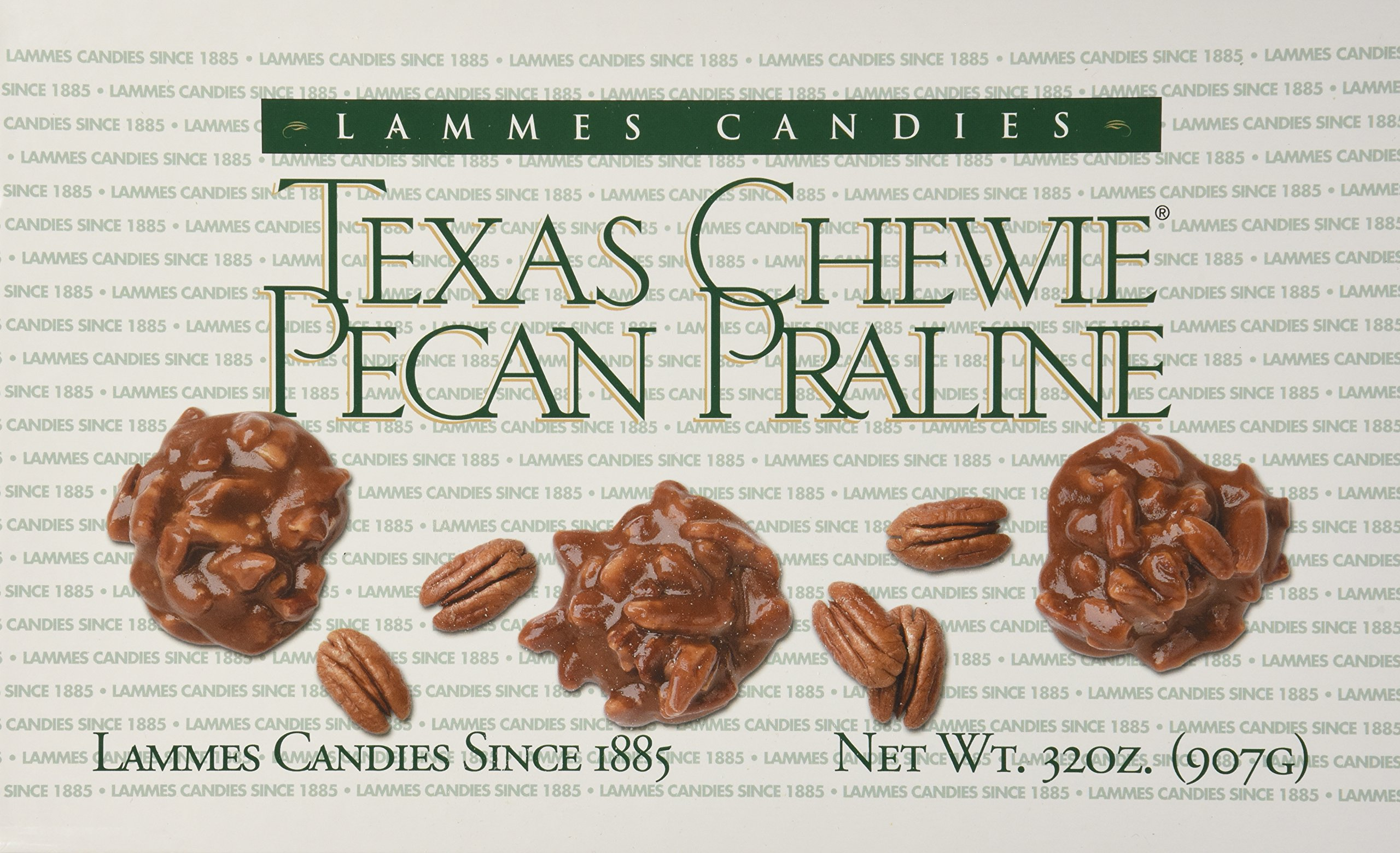 Lammes Candies Texas Chewie Pecan Pralines, 32 Oz Box by Lammes Candies