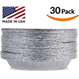 DOBI Pie Pan, Disposable Aluminum Foil Plate, Pack of 30, Standard Size (9-Inch-by-1.25-Inch)