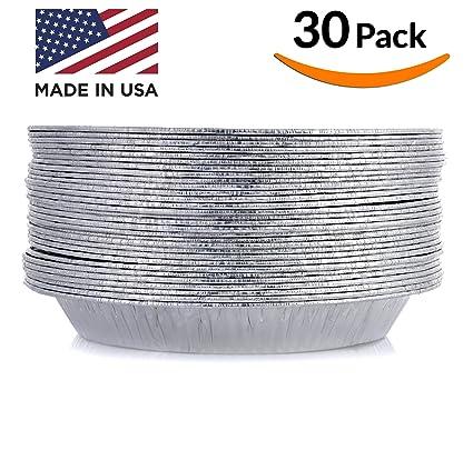 DOBI Pie Pan Disposable Aluminum Foil Plate Pack of 30 Standard Size (  sc 1 st  Amazon.com & Amazon.com: DOBI Pie Pan Disposable Aluminum Foil Plate Pack of 30 ...