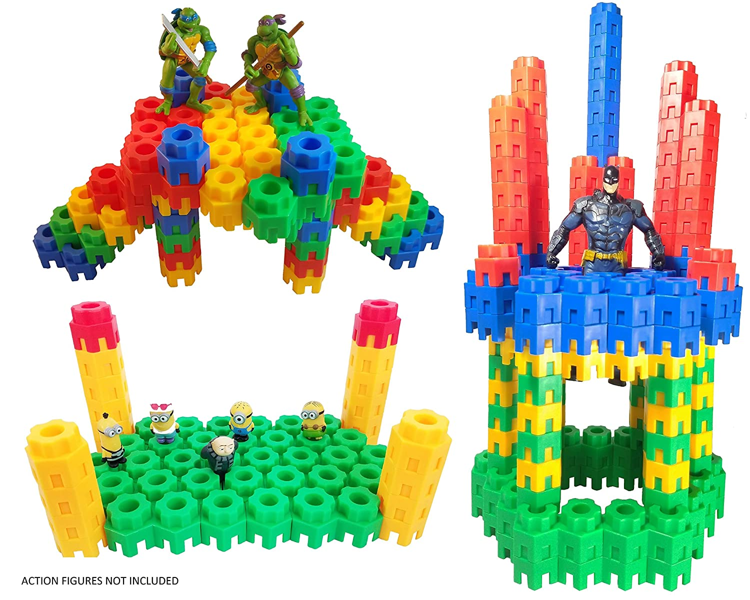 d2bcd723680 Amazon.com  Building Toys For Kids 144 Pcs Set - STEM Educational  Construction Toys - Building Blocks For Kids 3+ Best Toy Blocks Gift For  Boys and Girls ...