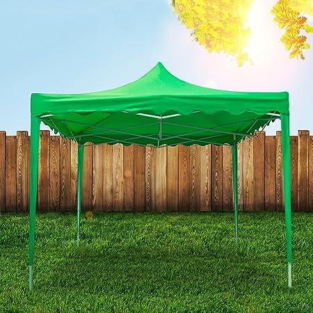 Gazebo lluvia automática de cierre rápido plegable 3 x 3 mt Toalla para camping jardín feria [] y negro: Amazon.es: Hogar