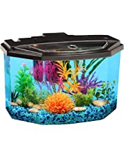 AquaView 3-Gallon Fish Tank with LED Lighting and Power Filter