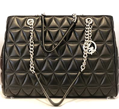 934a2b0fb3f9 ... order michael michael kors vivianne susannah large tote soft leather  handbag black d5ef9 b38bc