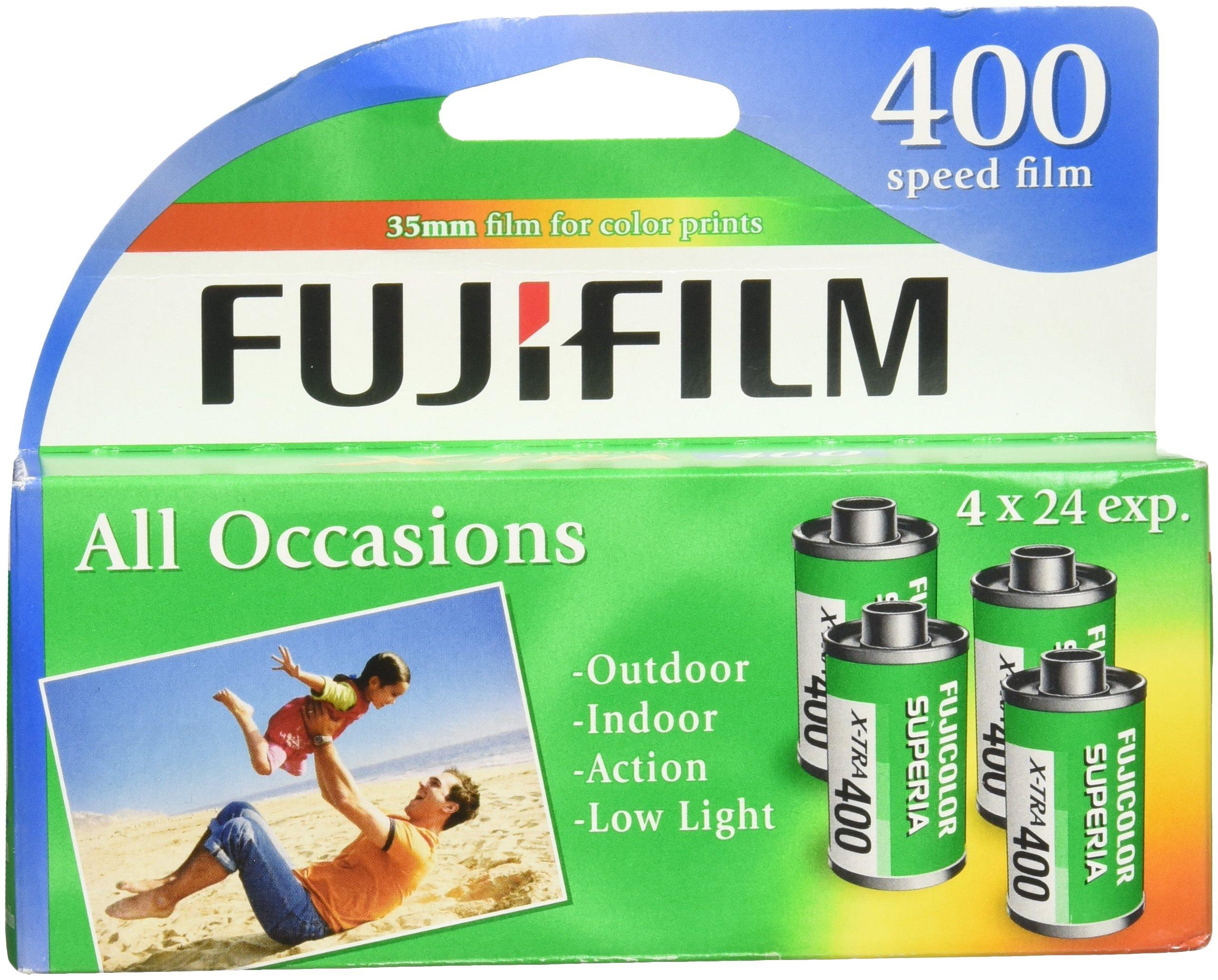 Fujifilm 1068620 Superia X-TRA 400 35mm Film - 4x24 exp, (Discontinued by Manufacturer)