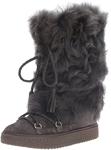 c4e3dd7aec3 FRYE Women s Gail Shearling Tall Winter Boot Smoke 7 M US
