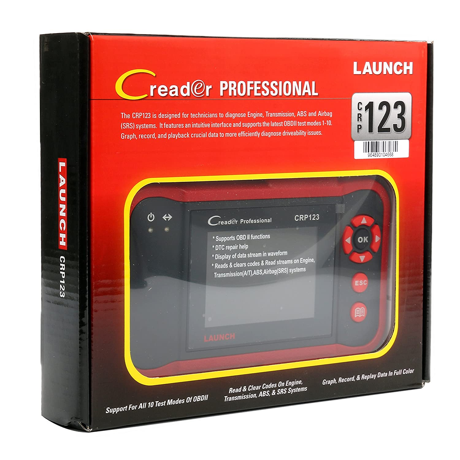 LAUNCH X431 CRP123 OBD2 Diagnostic Tool Auto Scanner Engine Transmission ABS SRS Code Readers Scan Tools