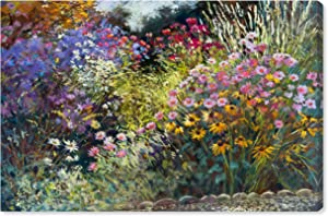"Amazon Brand – Stone & Beam Modern Impressionistic Floral Print Wall Art on Canvas, 36"" x 24"""