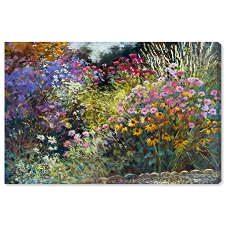 Modern Impressionistic Floral Print Wall Art on Canvas, 24 x 16
