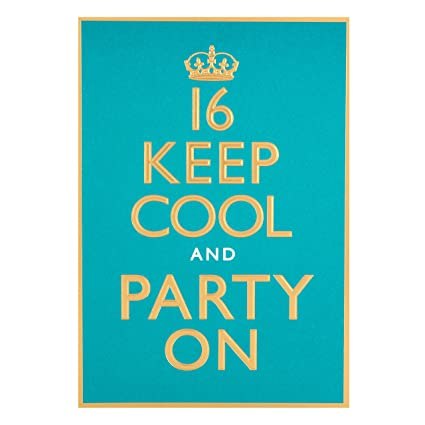 Hallmark 16th Birthday Card For Him Keep Cool