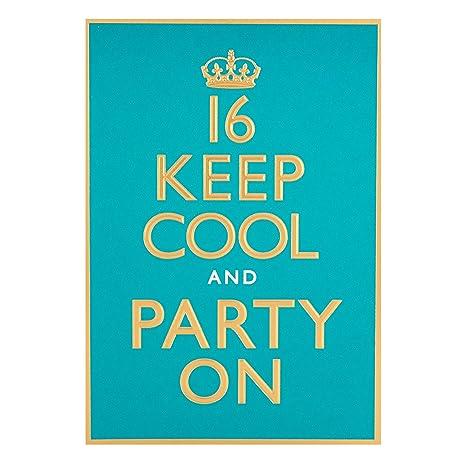 Amazon Humour Birthday Greetings Card Hallmark 16 Keep Cool