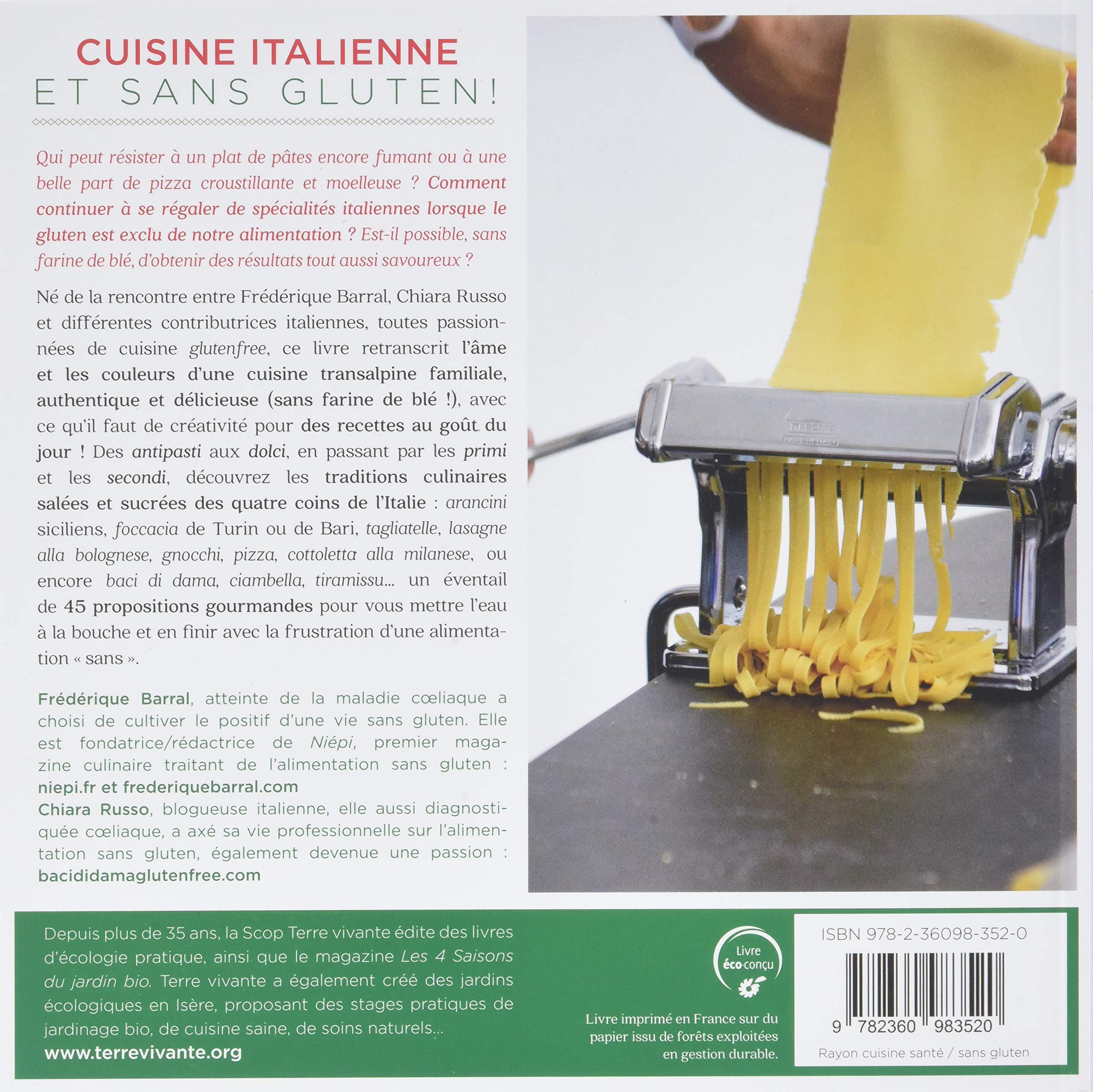 Amazon Fr Cuisine Italienne Et Sans Gluten De L Entree Au