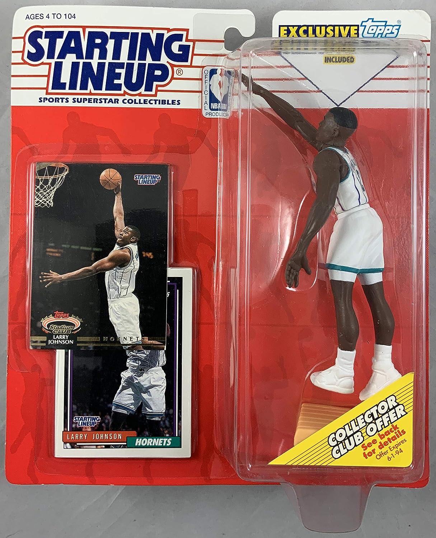 1993 KENNER STARTING LINEUP NBA LARRY JOHNSON CHARLOTTE HORNETS MOC