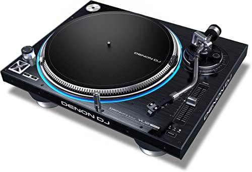 Denon DJ VL12 PRIME Professional Turntable with True Quartz Lock RGB LED Light Ring