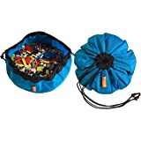 """SWOOP Mini Portable LEGO Storage Bag, Blue. 16"""" - Made from Durable, Nylon Fabric. Made in USA."""