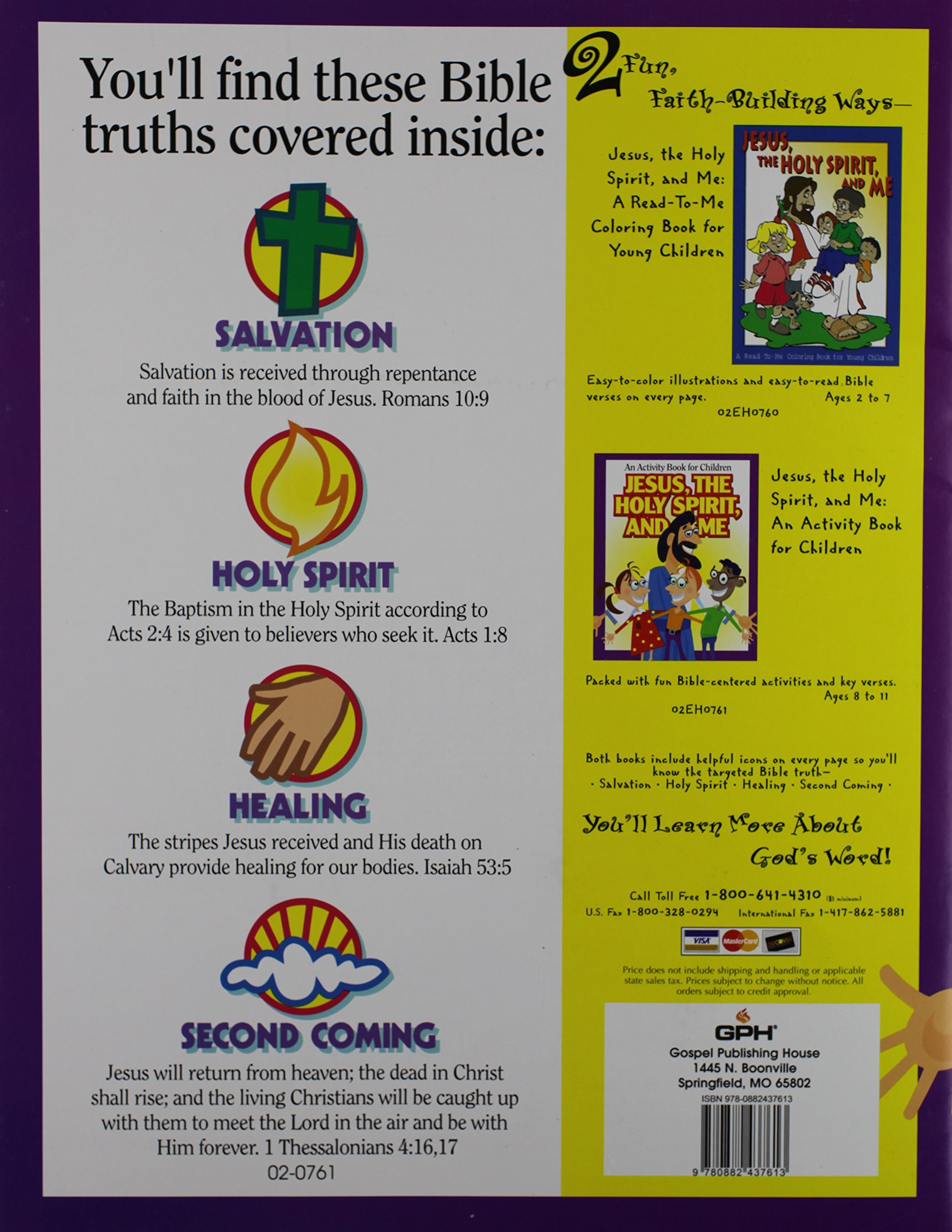 jesus the holy spirit and me an activity book for children gph