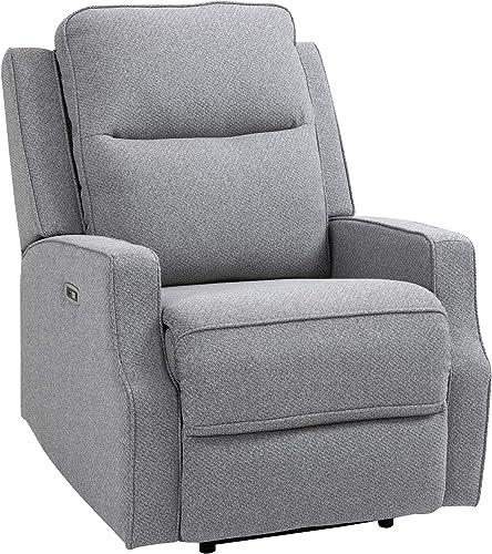 HOMCOM Electric Power Wall Hugger Recliner Chair Armchair Sofa