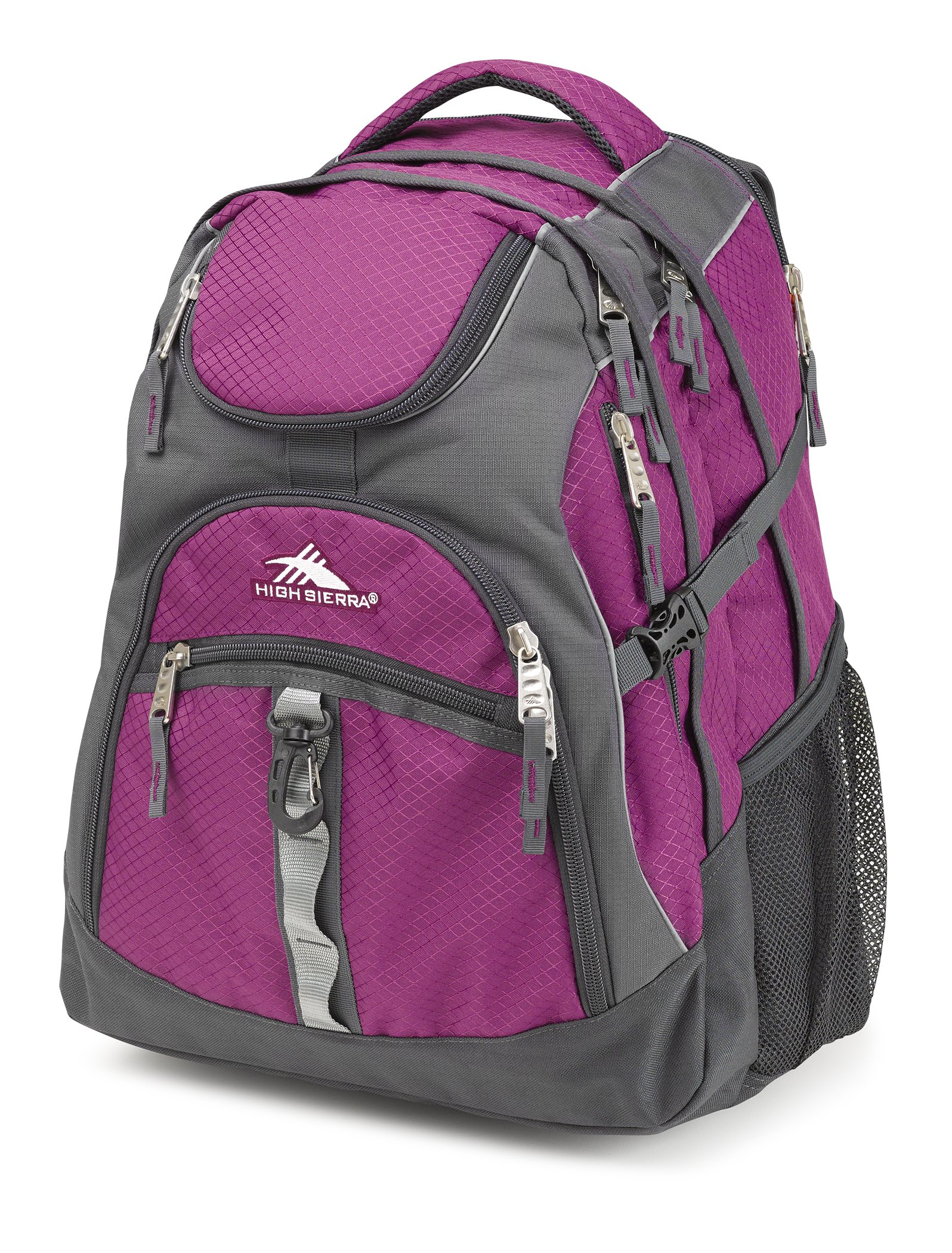 High Sierra Access Laptop Backpack, Berry Blast/Mercury