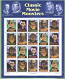 Classic Movie Monsters Collectible Stamp 32 Cent Sheet Scott 3168