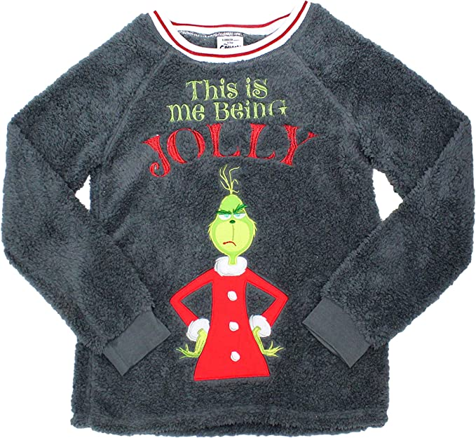 grinch The Christmas Xmas Damen und Herren Plus Merry
