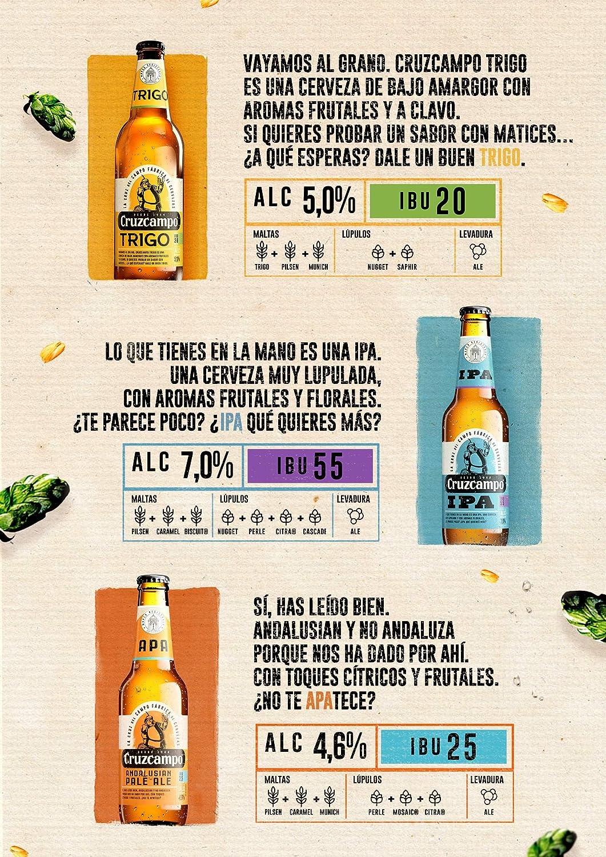 Cruzcampo Cerveza Andalusian Pale Ale - 330 ml: Amazon.es ...
