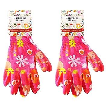 Town /& Country Ladies 3 Pack Cotton Dot Grip Gardening Womens Work Gloves Garden