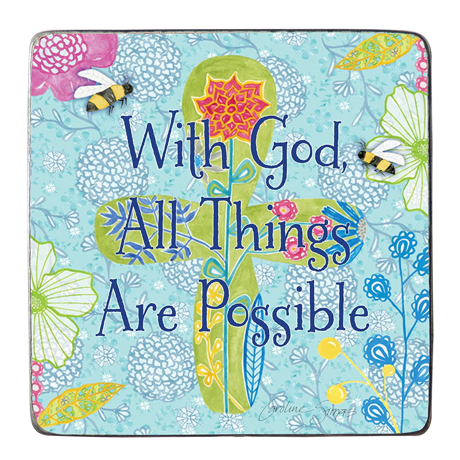 Cathedral Art SIM132B Bedtime Blessing for Boy Artmetal Square Plaque 5-Inch