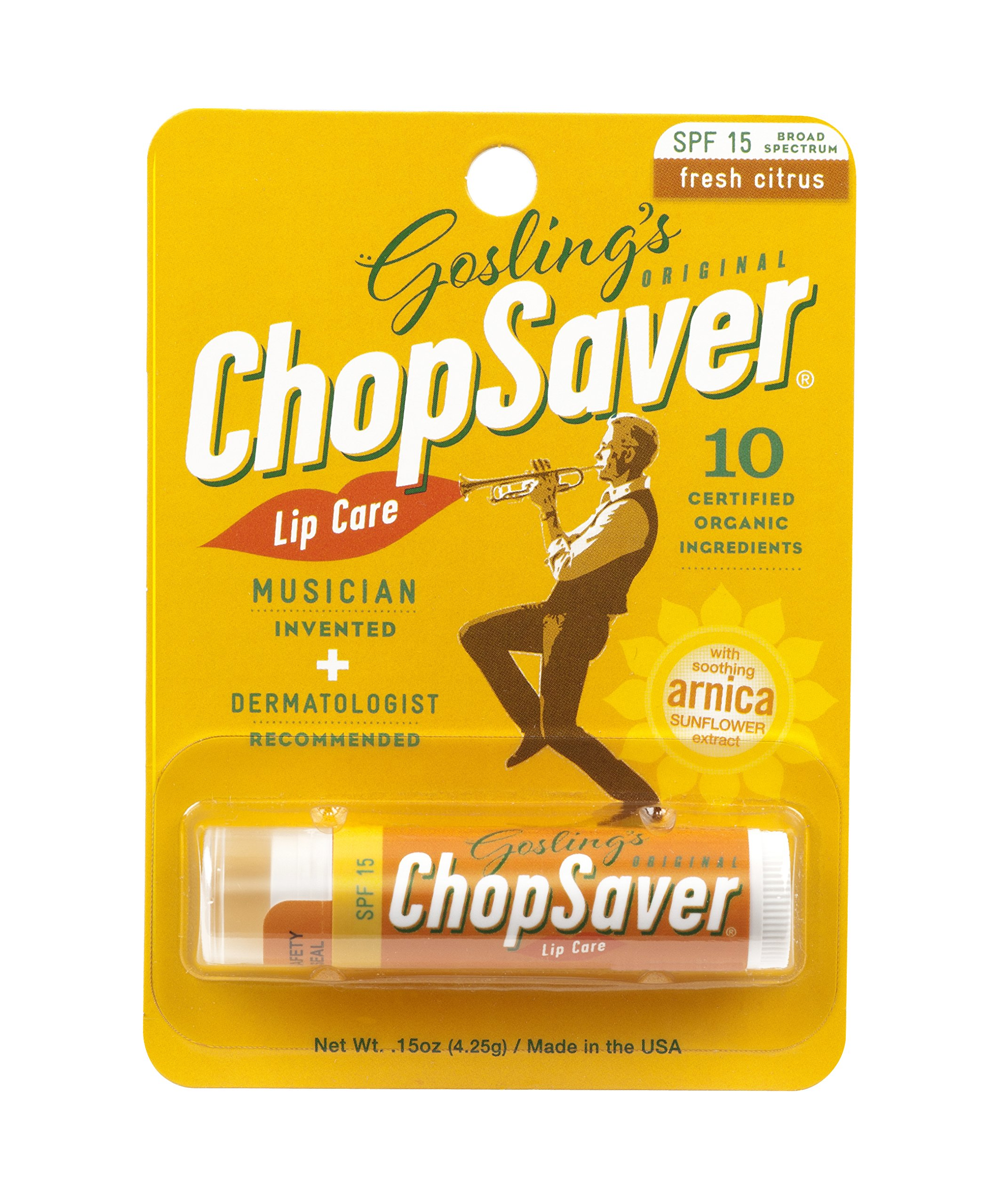Goslings Original ChopSaver SPF 15 Lip Care, 0.15 Ounce (Pack of 6)
