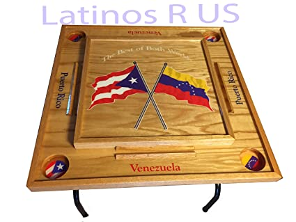 Amazon Com Puerto Rico Venezuela Domino Table Sports
