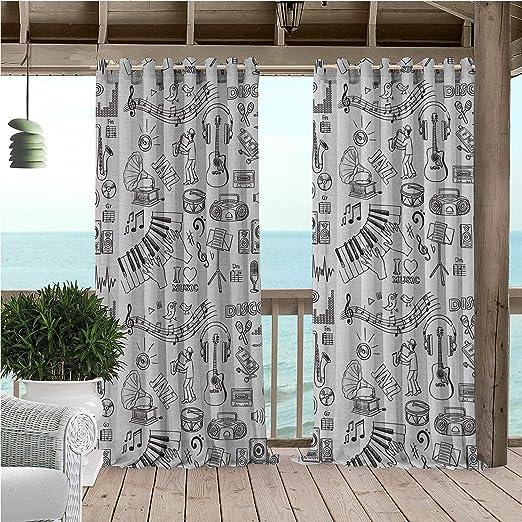Linhomedecor - Cortinas Impermeables para jardín, diseño de Arandelas de pérgola: Amazon.es: Hogar