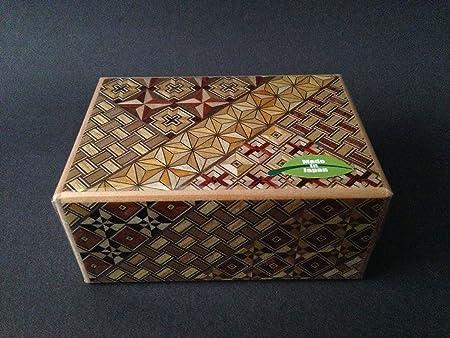 Madera Japonés Samurai Yosegi himitsu Magic Puzzle caja de truco 10-steps # hk-123, fabricado en Japón: Amazon.es: Hogar
